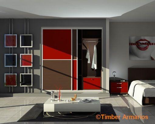 Diseño 3D armario empotrado en dormitorio