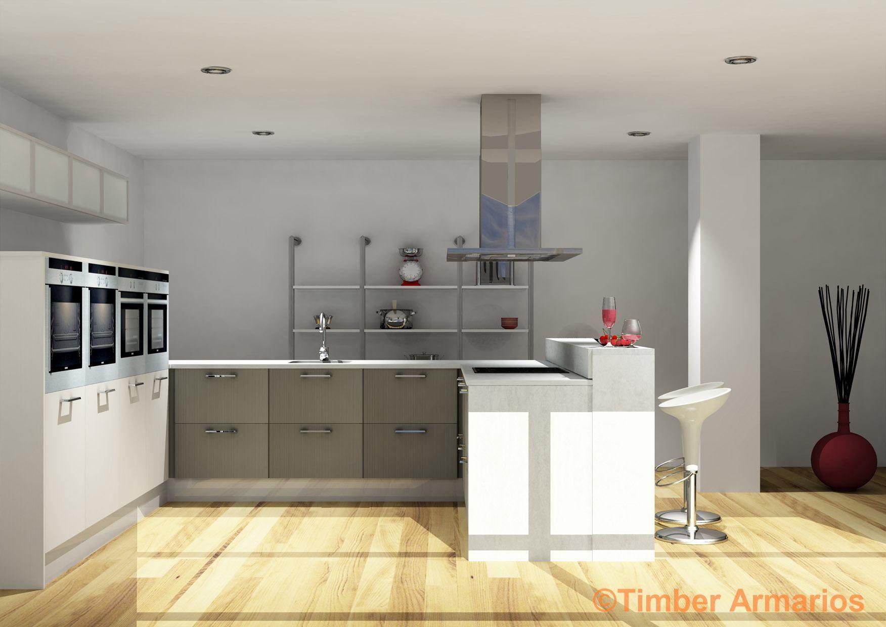 Planos de cocinas pequeas en 3d finest cocina de madera for Planos de cocinas 3d